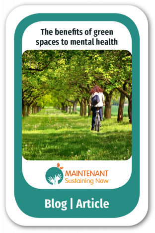 Green spaces beneficial to mental health